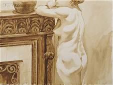 Philip Pearlstein (American, b. 1924) Standing Fem