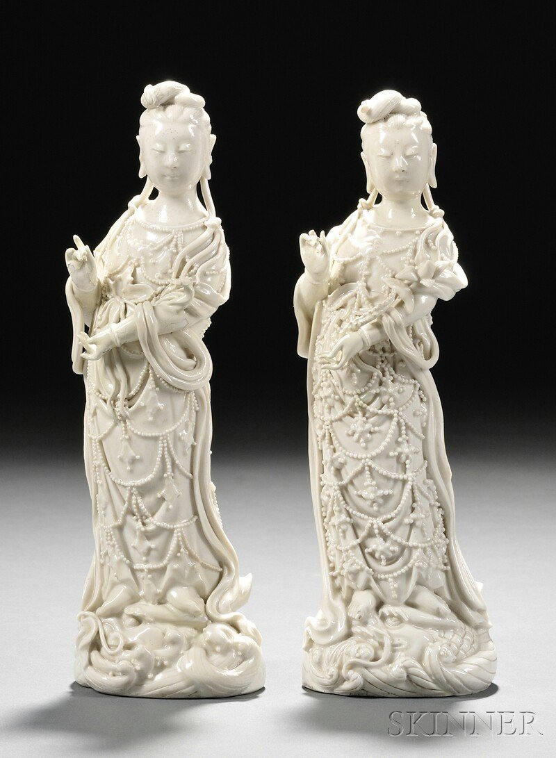 19: Two Blanc de Chine Figures, China, early 20th centu