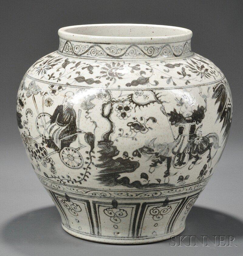 1001: Chinese Guigu Xiashan-style Porcelain Jar, 20th c