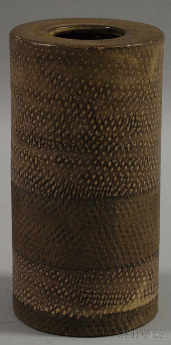 1020: Italian Mid-century Modern Cylindrical Glazed Art