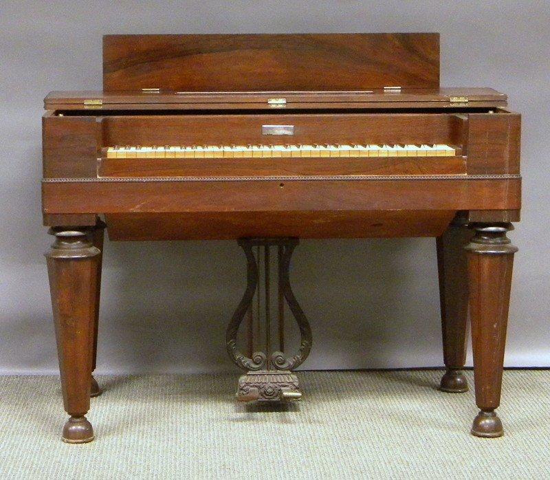 1022: George A. Prince & Co. Empire Rosewood Veneer Pum