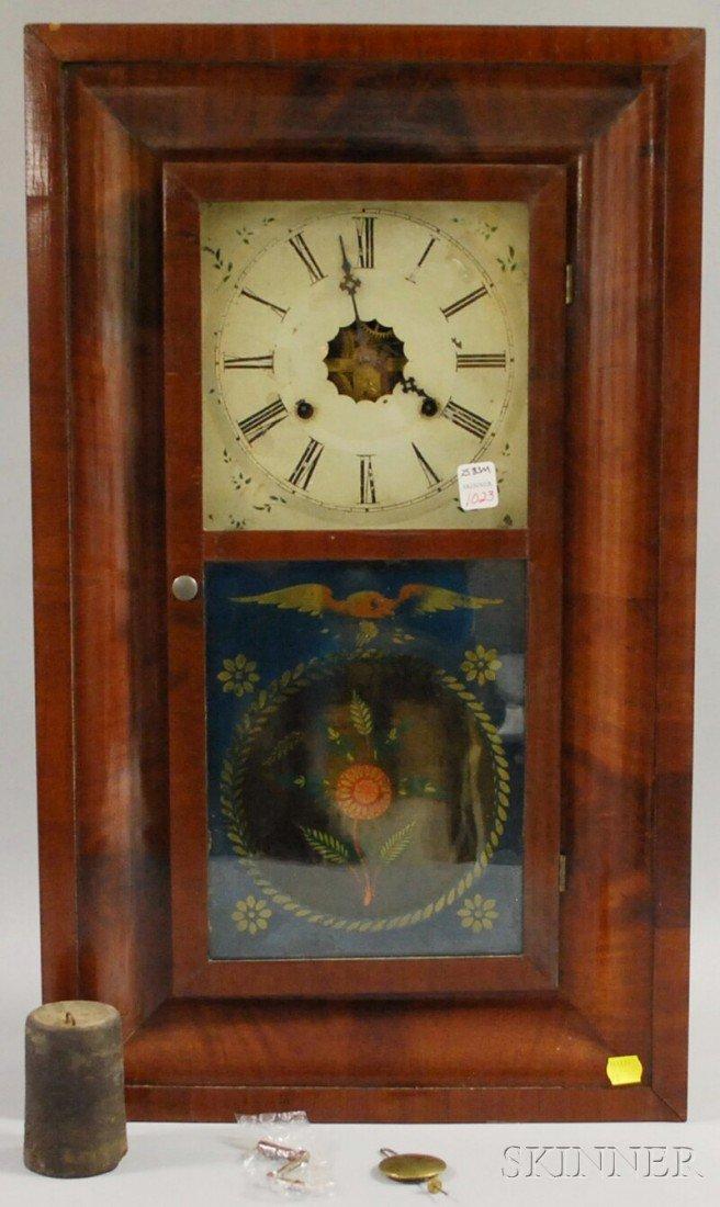1023: Seth Thomas Mahogany Ogee Shelf Clock, Plymouth H