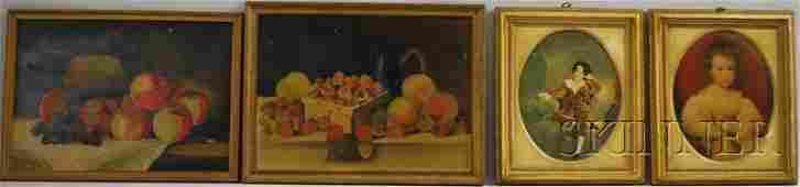 1111: Two 19th/20th Century American School Oil on Arti
