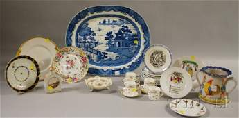 1216: Group of European and Asian Decorated Ceramic Tab