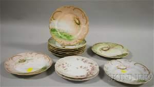 1471: Thirteen-piece Limoges Hand-painted Seashell-deco
