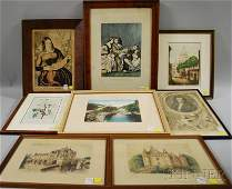 1511 Eight Assorted Framed Prints three European view