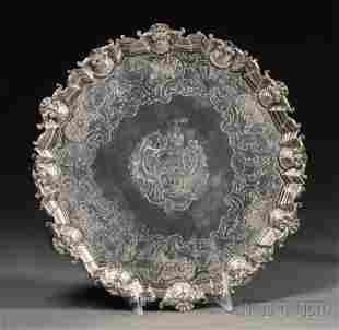 George II Silver Salver, London, 1744, David Willaum