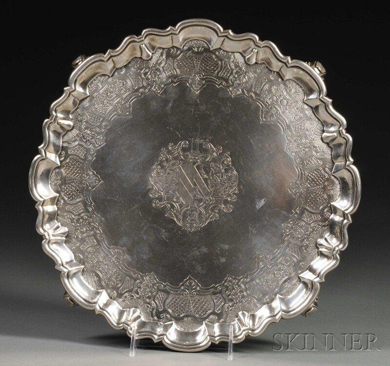 4: George II Silver Salver, London, 1745, Robert Abercr