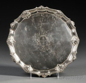 6: George III Silver Salver, London, 1761, Richard Rugg
