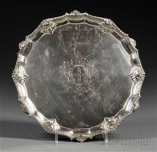 George III Silver Salver, London, 1761, Richard Rugg