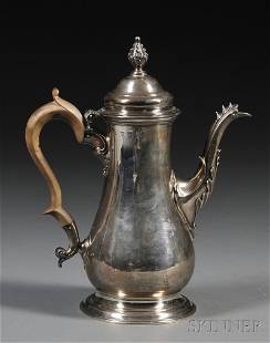 George III Silver Coffeepot, London, 1765, partial