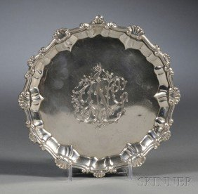 14: George III Silver Footed Salver, London, 1767, Eben