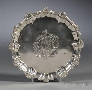 George III Silver Footed Salver, London, 1767, Eben