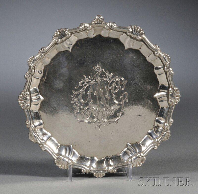 14: George III Silver Footed Salver, London, 1767, Eben