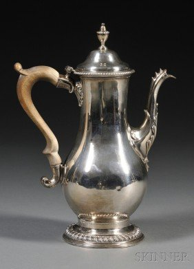 18: George III Silver Coffeepot, London, 1777, Charles