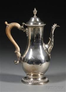 George III Silver Coffeepot, London, 1777, Charles