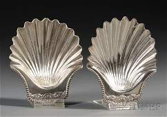 33: Pair of George III Silver Shell-form Dishes, London