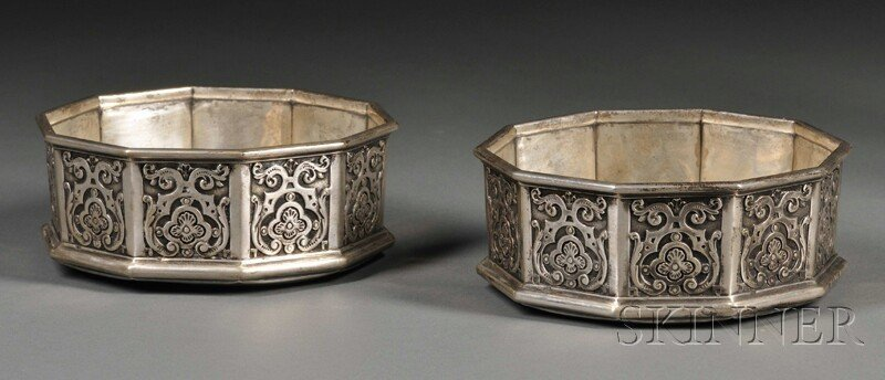 54: Pair of Victorian Silver Wine Coasters, London, 185