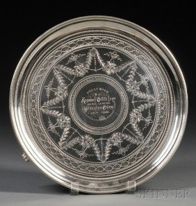 Victorian Silver Presentation Salver, London, 1879,