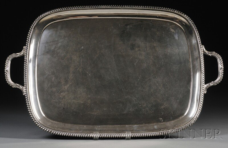 64: George V Silver Two-handled Serving Tray, Sheffield