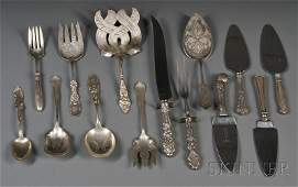 195: Group of American Sterling Flatware Serving Items,