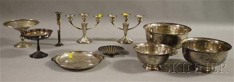 4 Ten Assorted American Sterling and Silver Plate Tabl