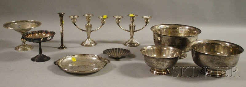 4: Ten Assorted American Sterling and Silver Plate Tabl