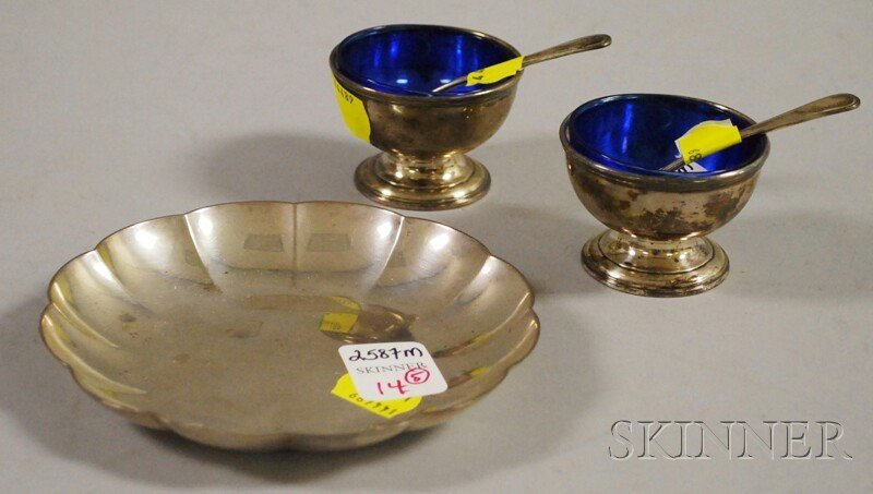 14: Five Small American Sterling Tableware Items, a pai