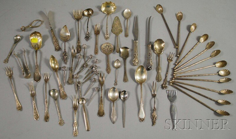 18: Group of Assorted American Sterling and Silver Plat