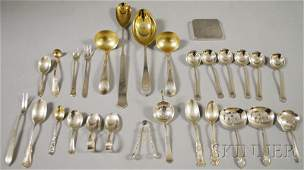 110: Group of Assorted Mostly Sterling Silver Flatware,