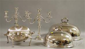 122 Five Silverplated Table Articles two Johnson Du