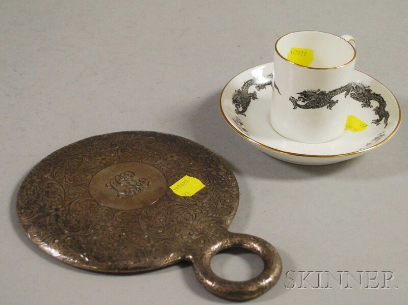 199: Sterling Silver-mounted Hand Mirror and a Tiffany
