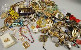 267 Large Group of Costume Jewelry including beaded n
