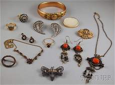 327: Small Group of Assorted Mostly Antique Jewelry, in