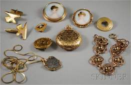 347: Small Group of Gold and Gold-filled Jewelry, inclu