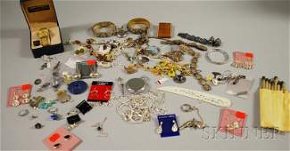 358A: Group of Silver and Costume Jewelry, including en