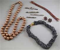 368 Small Group of Assorted Jewelry including three s