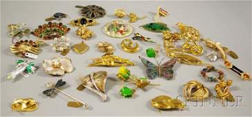 413 Small Group of Mostly Signed Costume Jewelry incl