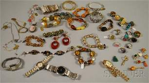 428: Group of Mostly Costume Jewelry, including several