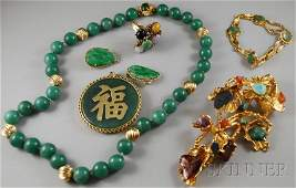 440A: Group of Contemporary Jade, Jadeite, and Hardston