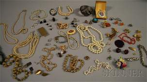 449 Group of Assorted Silver and Costume Jewelry incl