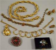 467: Small Group of Costume Jewelry, including a Hobe p