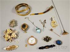 471 Small Group of Victorian Jewelry including an opa