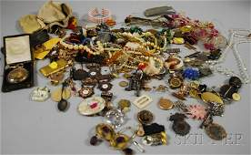 493: Group of Assorted Costume Jewelry and Medals, incl