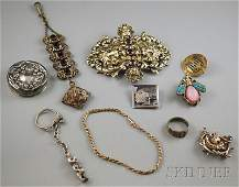 494: Small Group of Mostly Sterling Silver Jewelry, a l