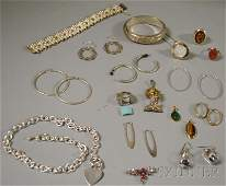 498: Small Group of Mostly Sterling Silver Jewelry, inc