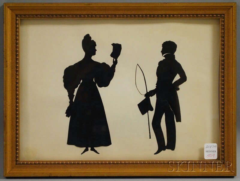 509: Framed Silhouettes of a Lady and Gentleman, possib