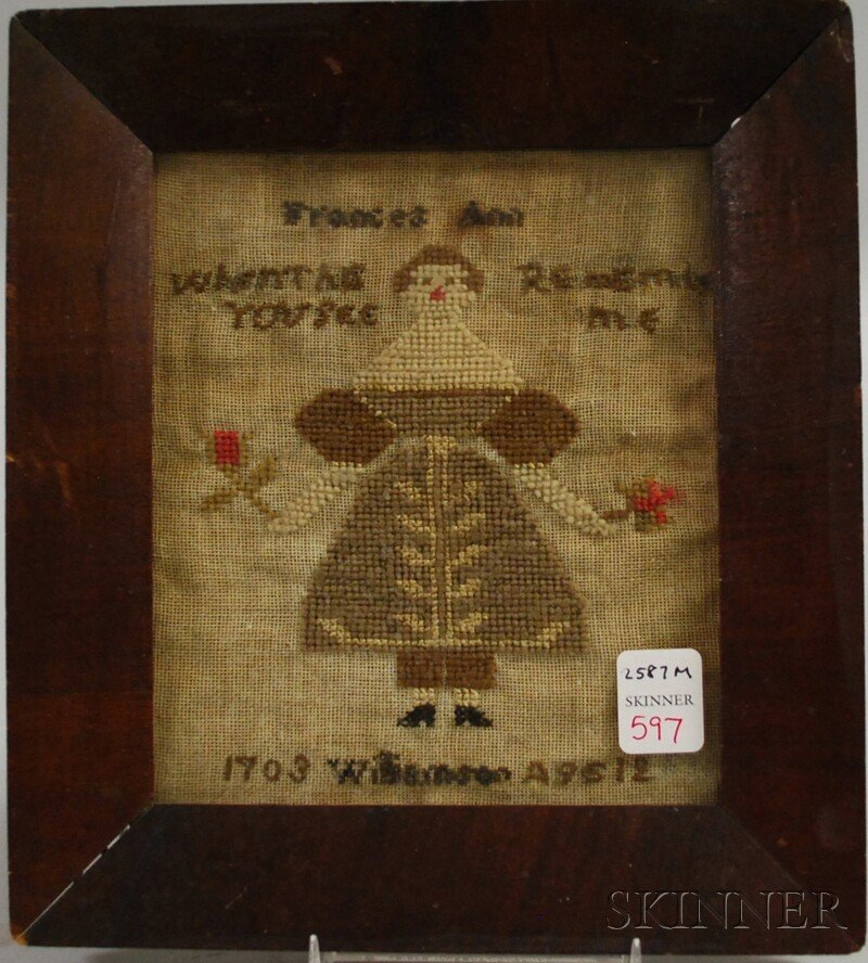 "597: Small Needlework Sampler, ""Frances Ann Williamson"