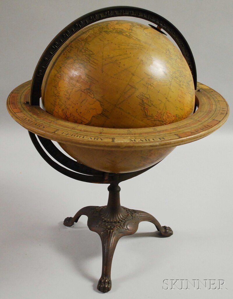 600: C.S. Hammond & Co. 12-inch Terrestrial Globe on Ca