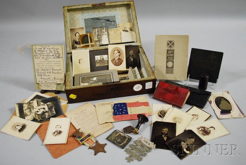617: Box of Civil War-related Ephemera, the contents be